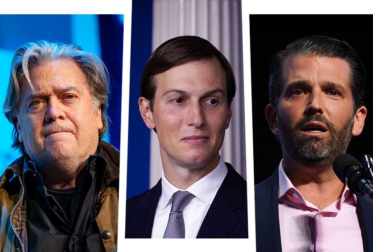 Steve Bannon, Jared Kushner and Donald Trump Jr. (Photo illustration by Salon/Getty Images)