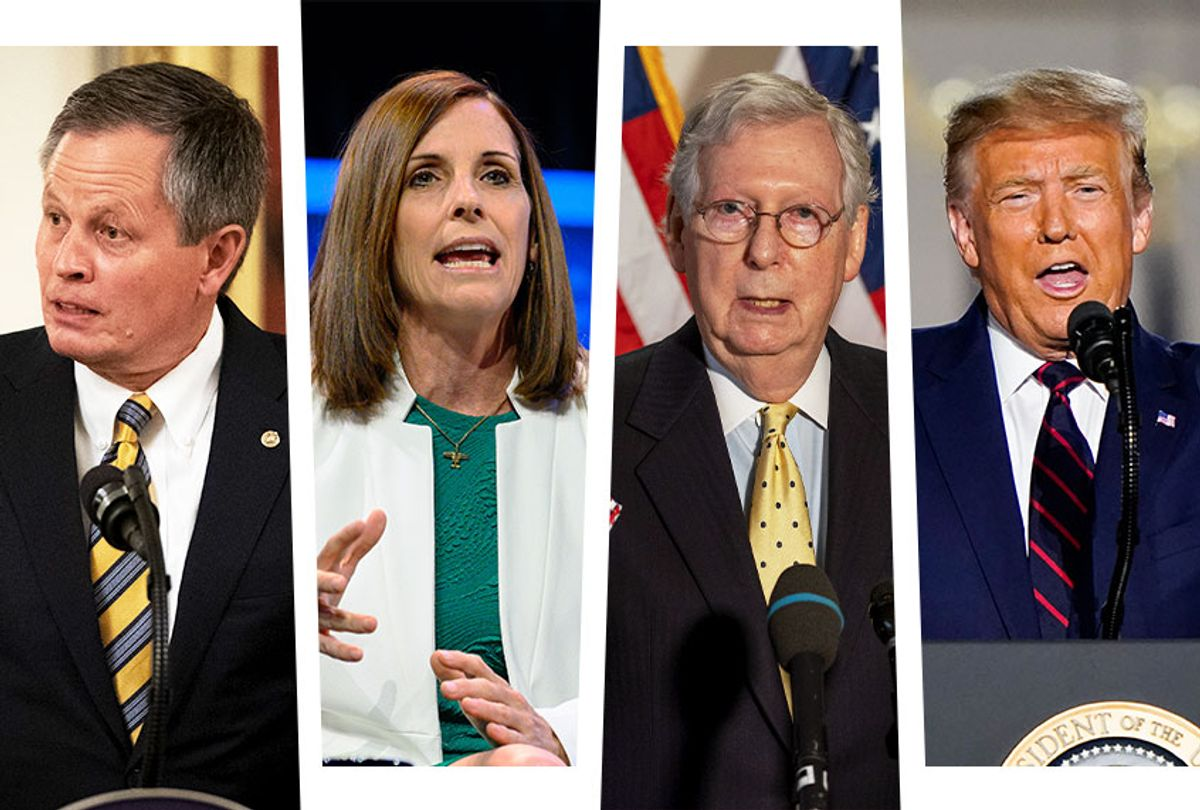 Steve Daines, Martha McSally, Mitch Mcconnell and Donald Trump (Photo illustration by Salon/Getty Images)