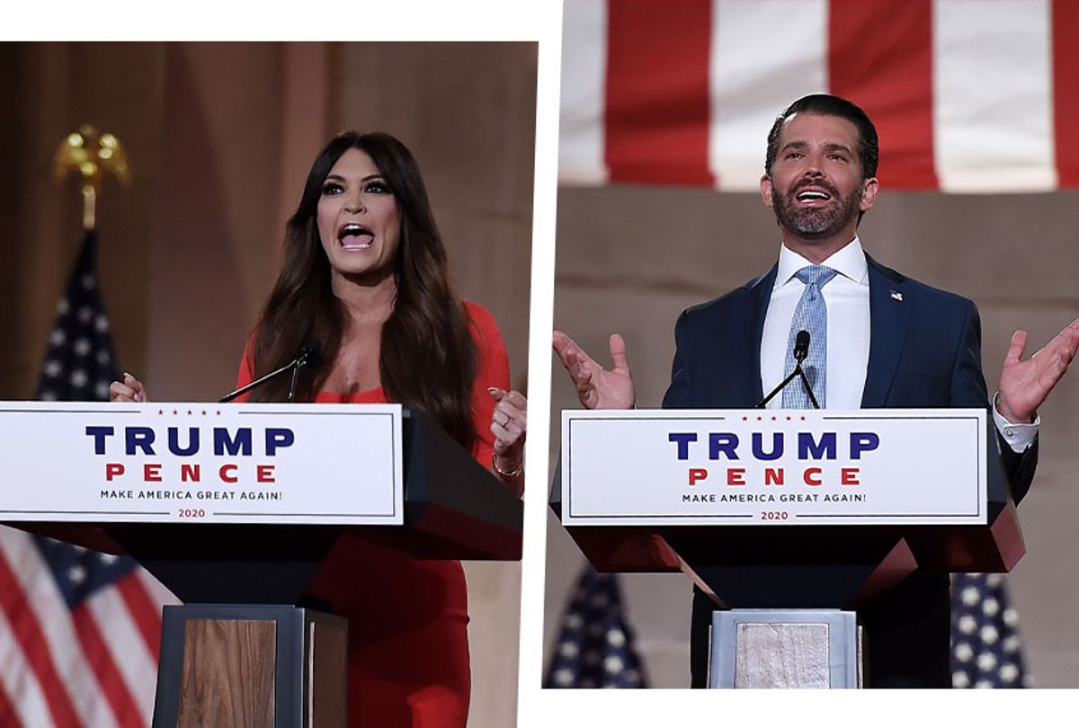 Kimberly Guilfoyle and Donald Trump JR. (Photo illustration by Salon/Getty Images)