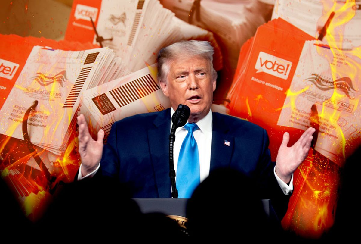 Donald Trump would prefer to do away with Mail-In-Voting (Photo illustration by Salon/Getty Images)