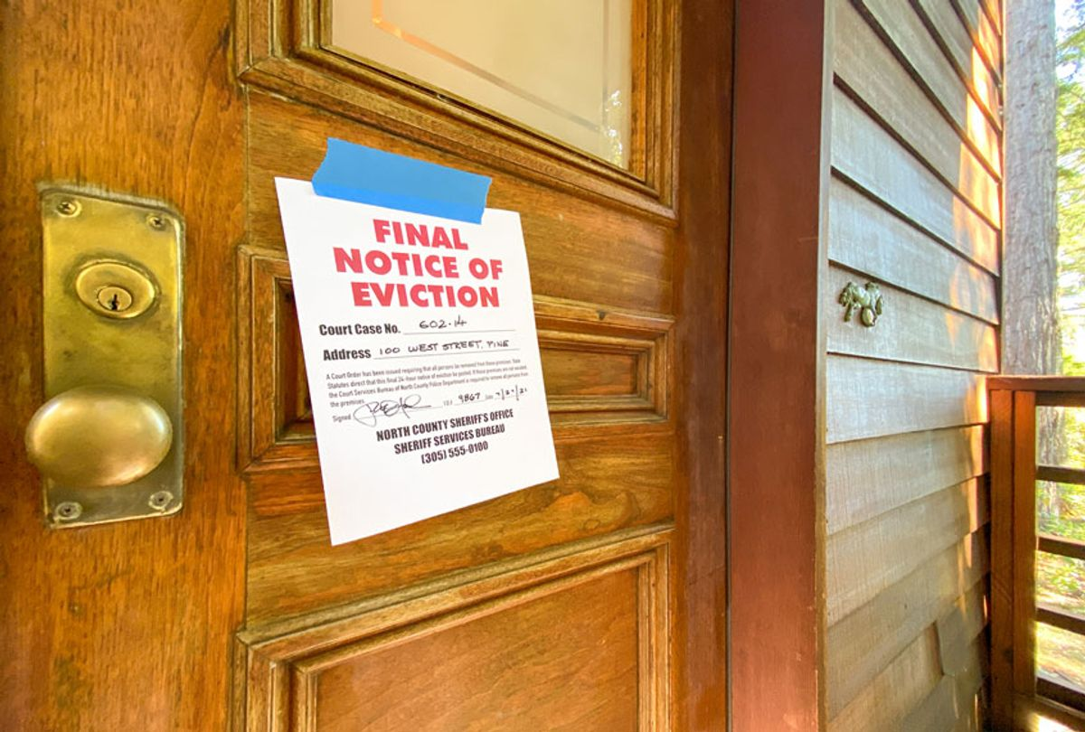 Eviction notice on door of house (Getty Images)