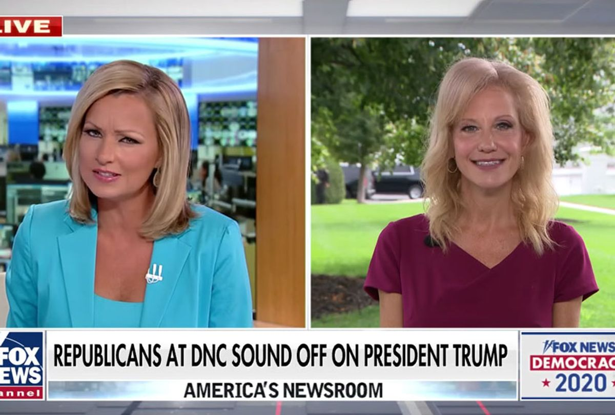White House counselor Kellyanne Conway weighs in on the Democratic National Convention with Sandra Smith on 'America's Newsroom.' (Fox News)