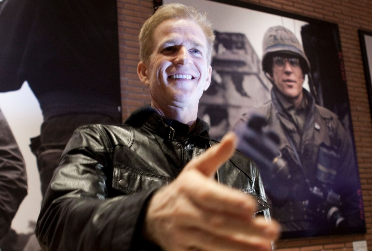 """Matthew Modine opens his photography exhibition """"Full Metal Jacket"""" diary Redux for the 25th anniversary of Stanley Kubrick's film during the 7th International Roma Film Festival (Alessandra Benedetti/Corbis via Getty Images)"""