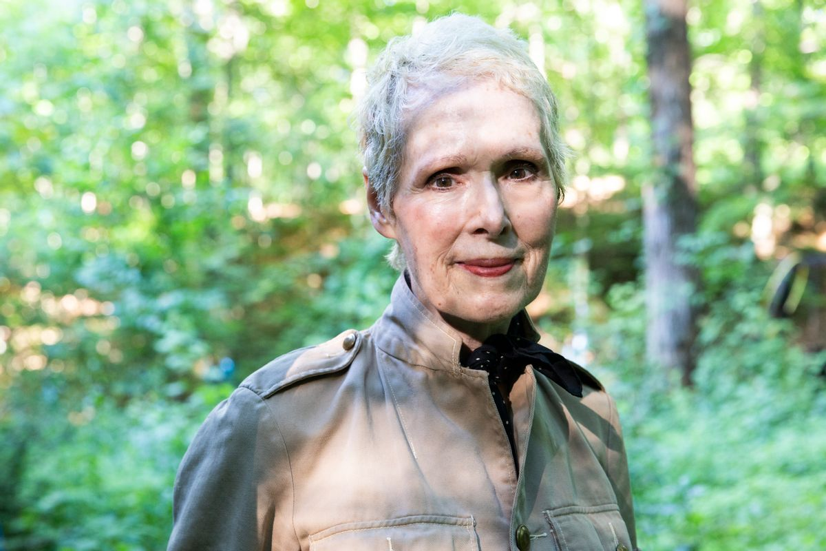 WARWICK, NEW YORK - JUNE 21, 2019: E. Jean Carroll at her home in Warwick, NY. Carroll claims that Donald Trump sexually assaulted her in a dressing room at a Manhattan department store in the mid-1990s. Trump denies knowing Carroll. (Eva Deitch for The Washington Post via Getty Images)