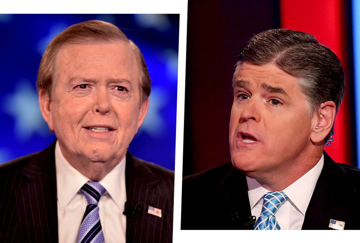 Sean Hannity and Lou Dobbs, of Fox News (Photo illustration by Salon/Getty Images)