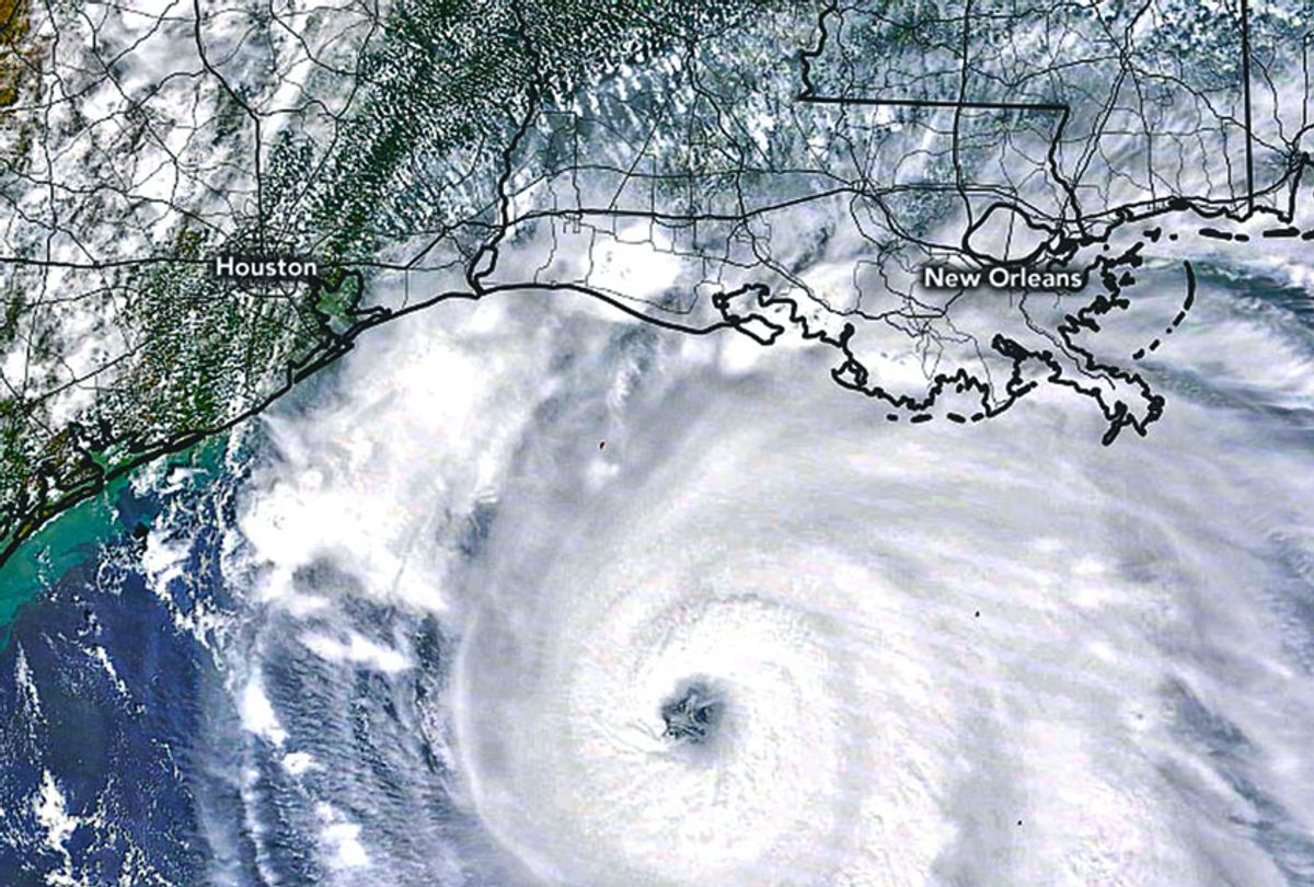 Hurricane Laura is seen here approaching the U.S. Gulf Coast on Wednesday. The image is taken by the Moderate Resolution Imaging Spectroradiometer (MODIS) on NASA's Terra satellite. (NASA)