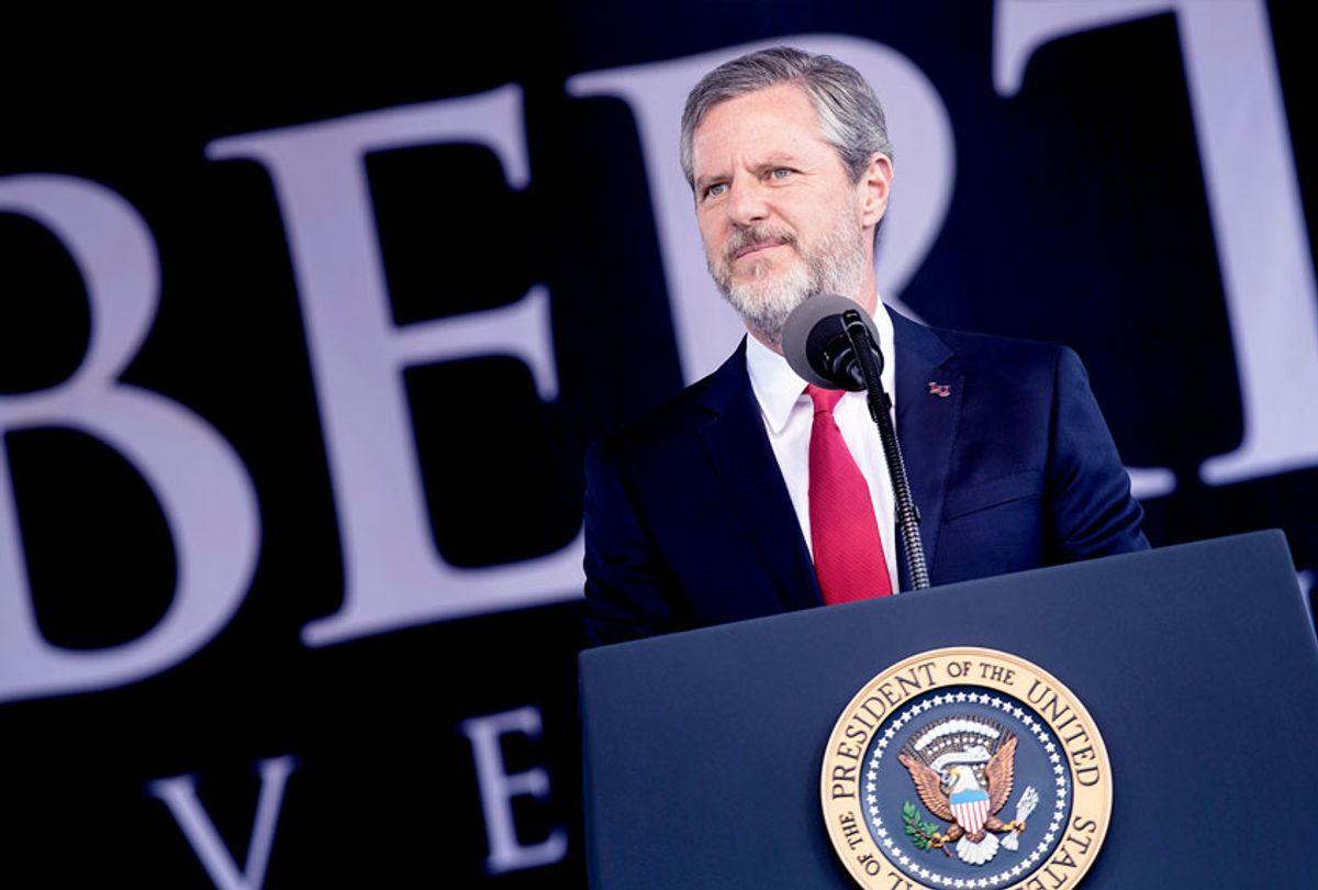 President of Liberty University Jerry Falwell, Jr. (BRENDAN SMIALOWSKI/AFP via Getty Images)