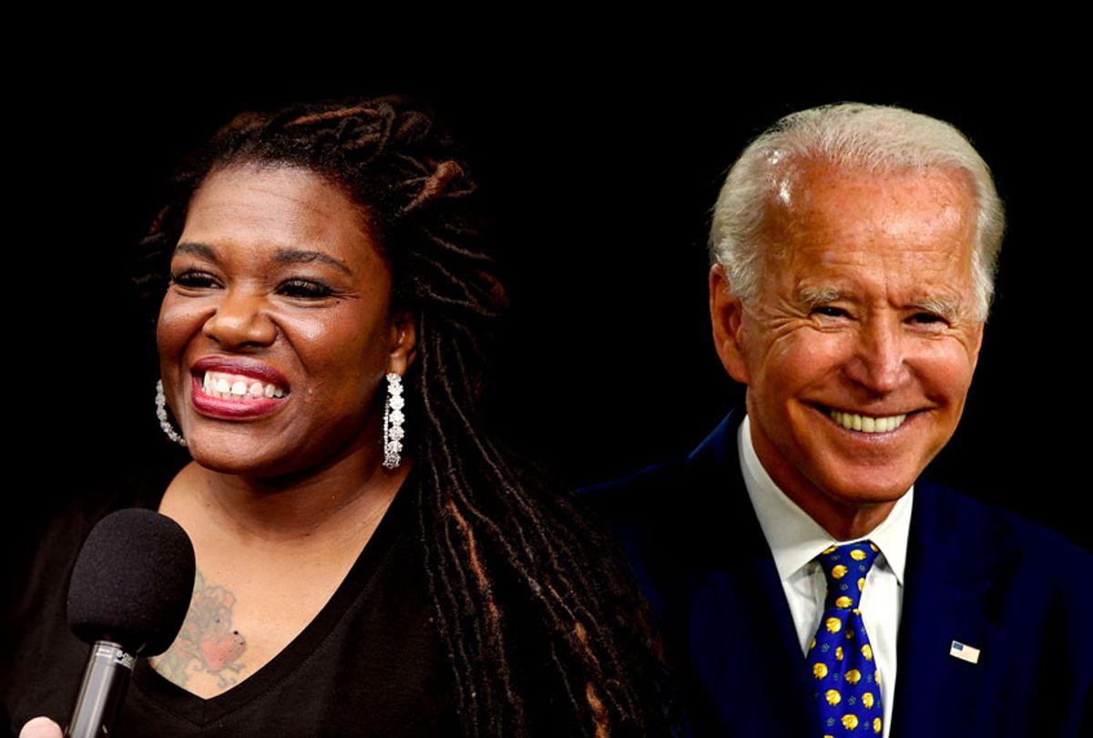 Joe Biden and Cori Bush (Getty Images/Salon)