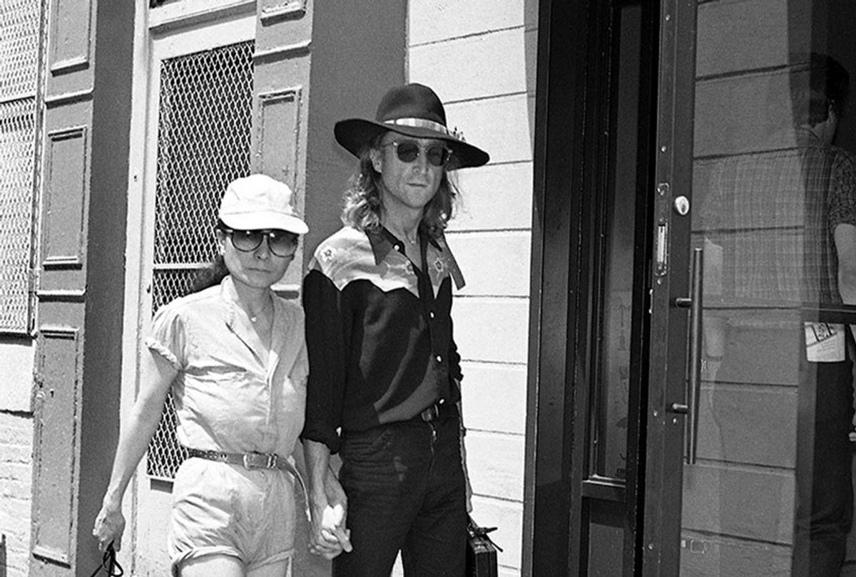 John & Yoko entering the Hit Factory on August 7, 1980 (Photo copyright Roger Farrington)