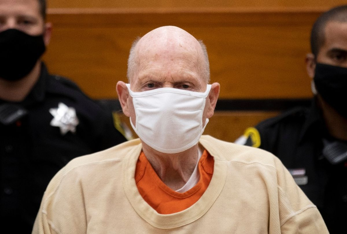 Joseph James DeAngelo known as the Golden State Killer looks on during the second day of victim impact statements at the Gordon D. Schaber Sacramento County Courthouse on August 19, 2020 (SANTIAGO MEJIA/POOL/AFP via Getty Images)