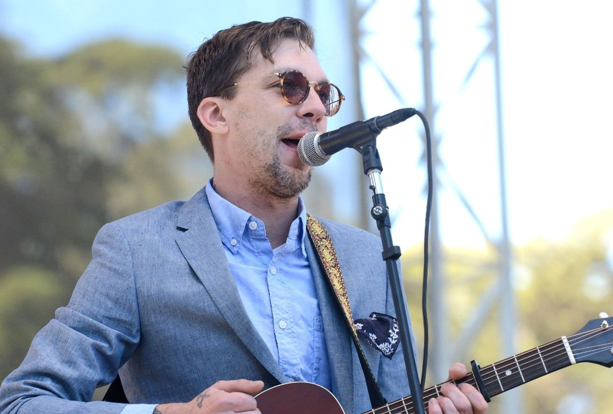 Justin Townes Earle performs onstage during the Hardly Strictly Bluegrass music festival (Scott Dudelson/Getty Images)
