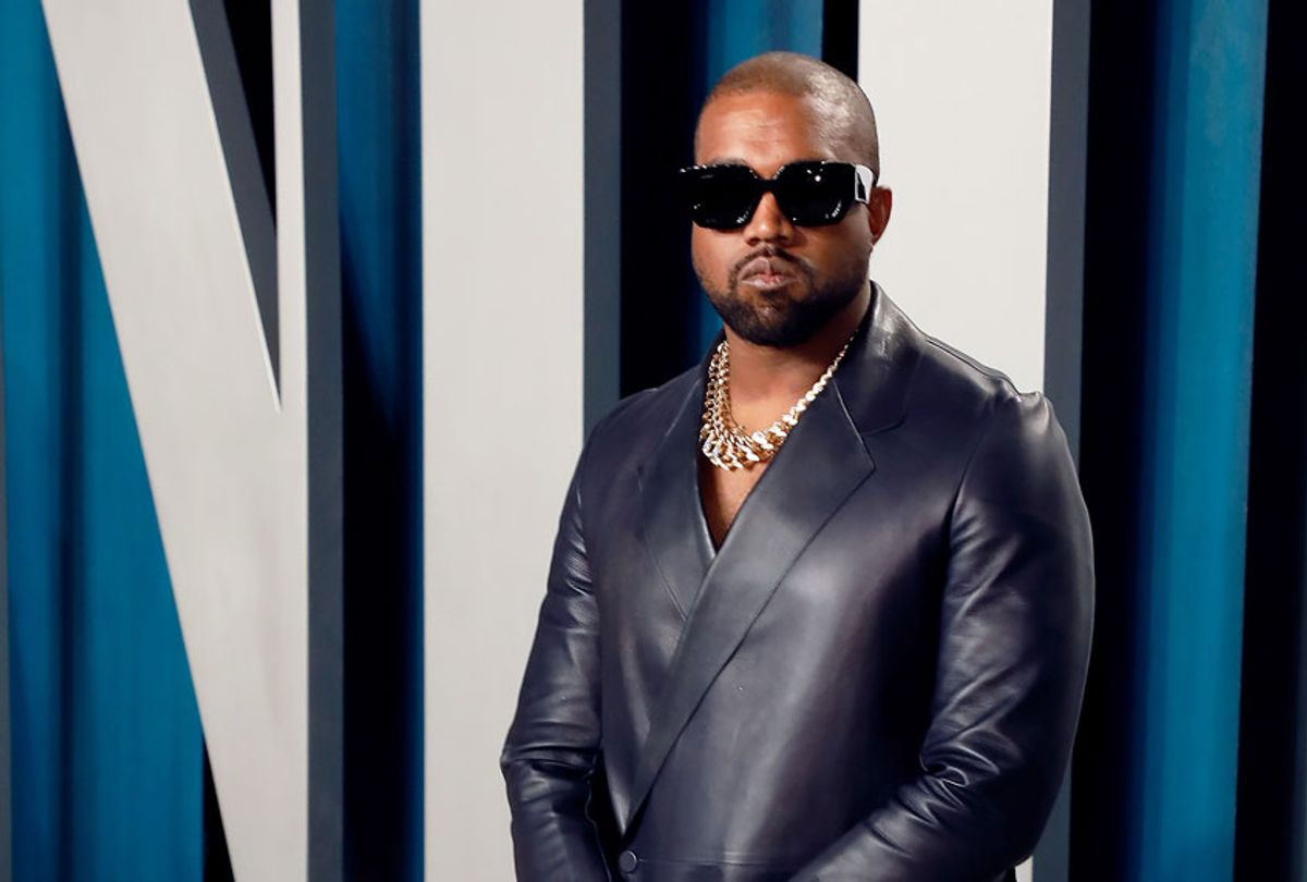 Kanye West attends the 2020 Vanity Fair Oscar Party at Wallis Annenberg Center for the Performing Arts on February 09, 2020 in Beverly Hills, California. (Taylor Hill/FilmMagic)