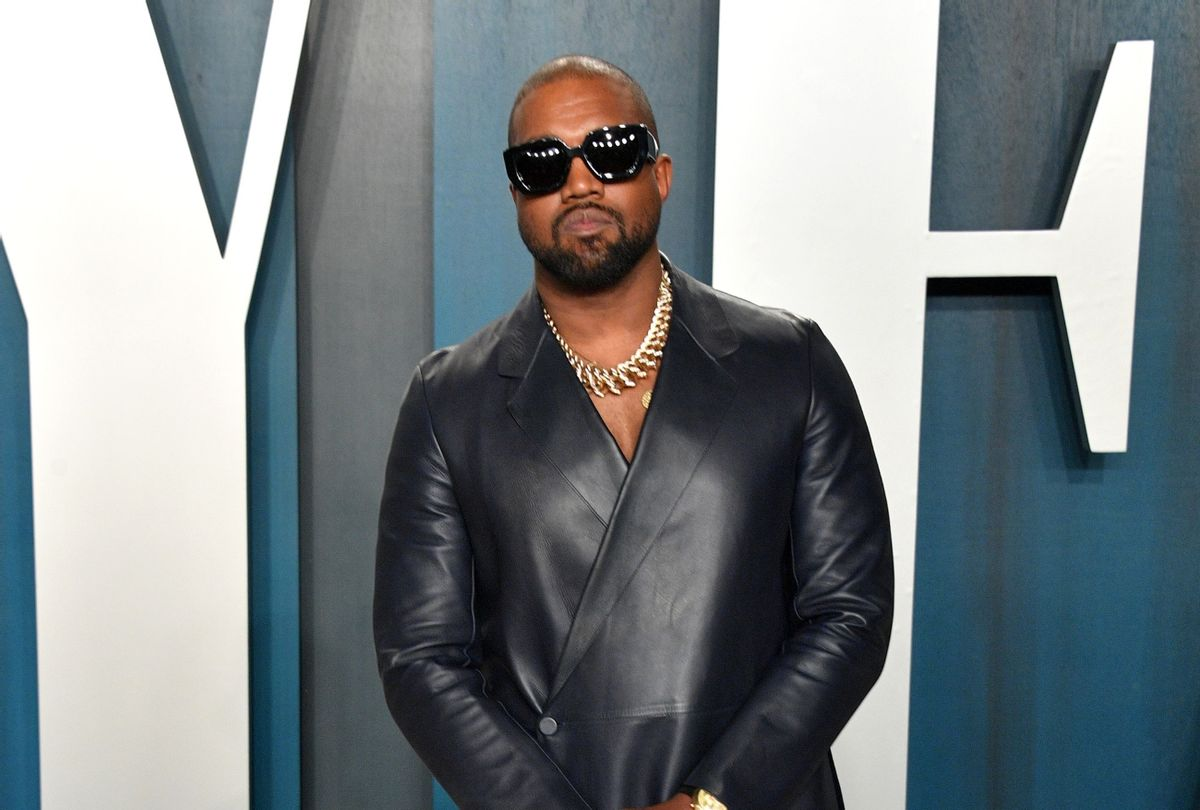 Kanye West at 2020 Vanity Fair Oscar Party Hosted By Radhika Jones  (George Pimentel/Getty Images)