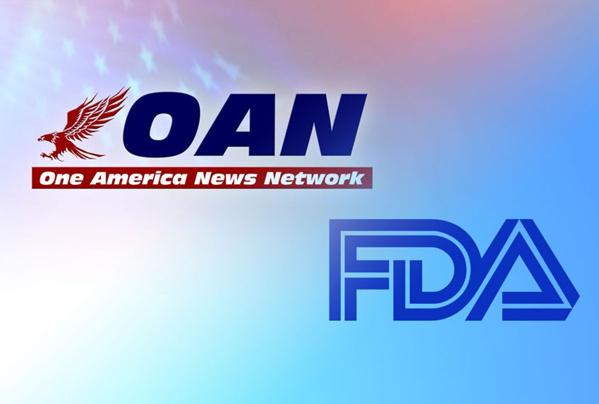 One America News Network | Food & Drug Administration (Graphics collage by Salon/WiikiCommons/One America News Network)