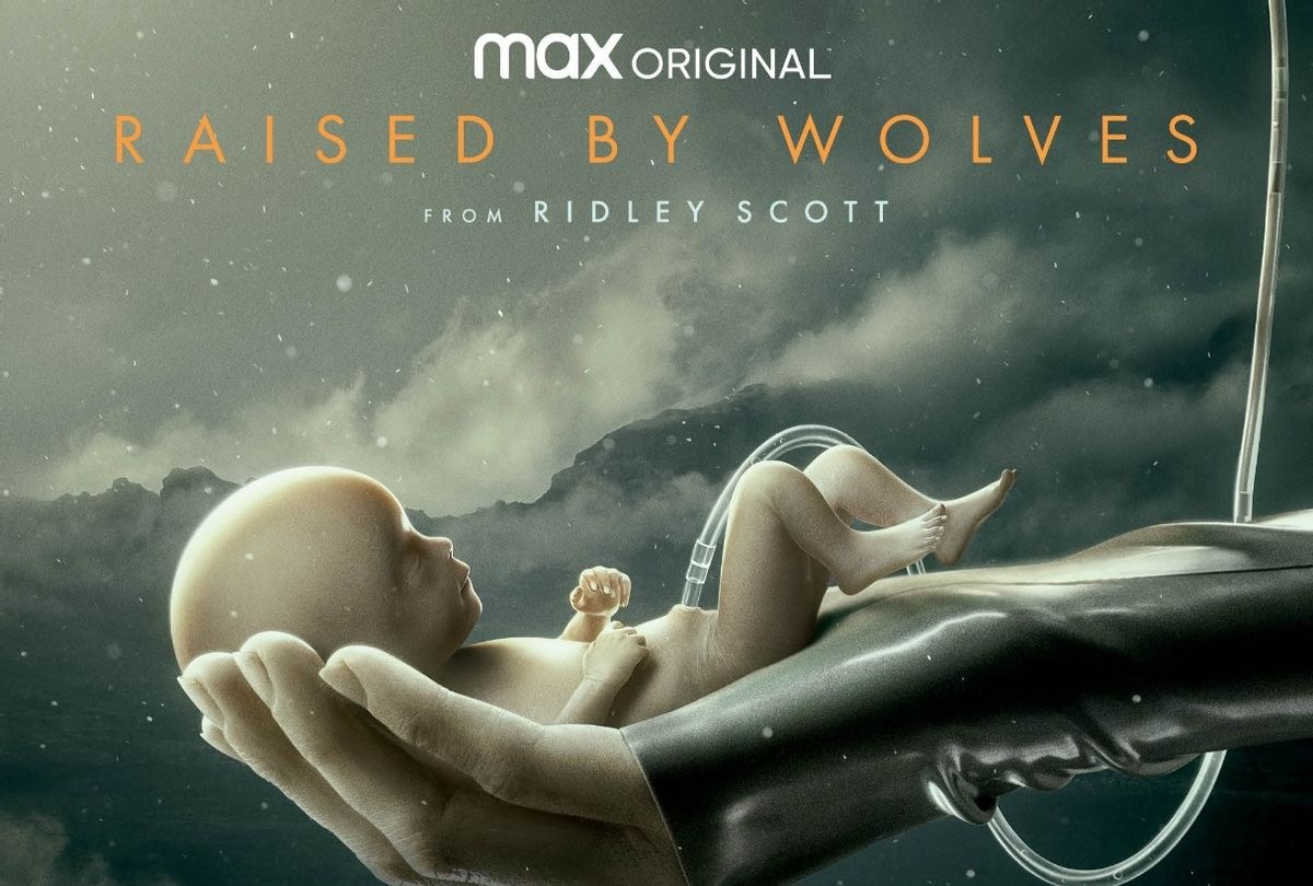 """""""Raised by Wolves"""" key art poster (HBO Max)"""