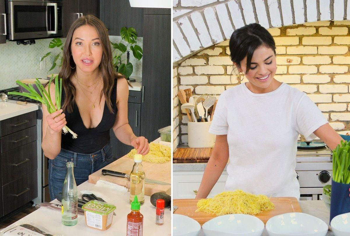 "Candice Kumai and Selena Gomez in ""Selena + Chef""  (HBO Max)"
