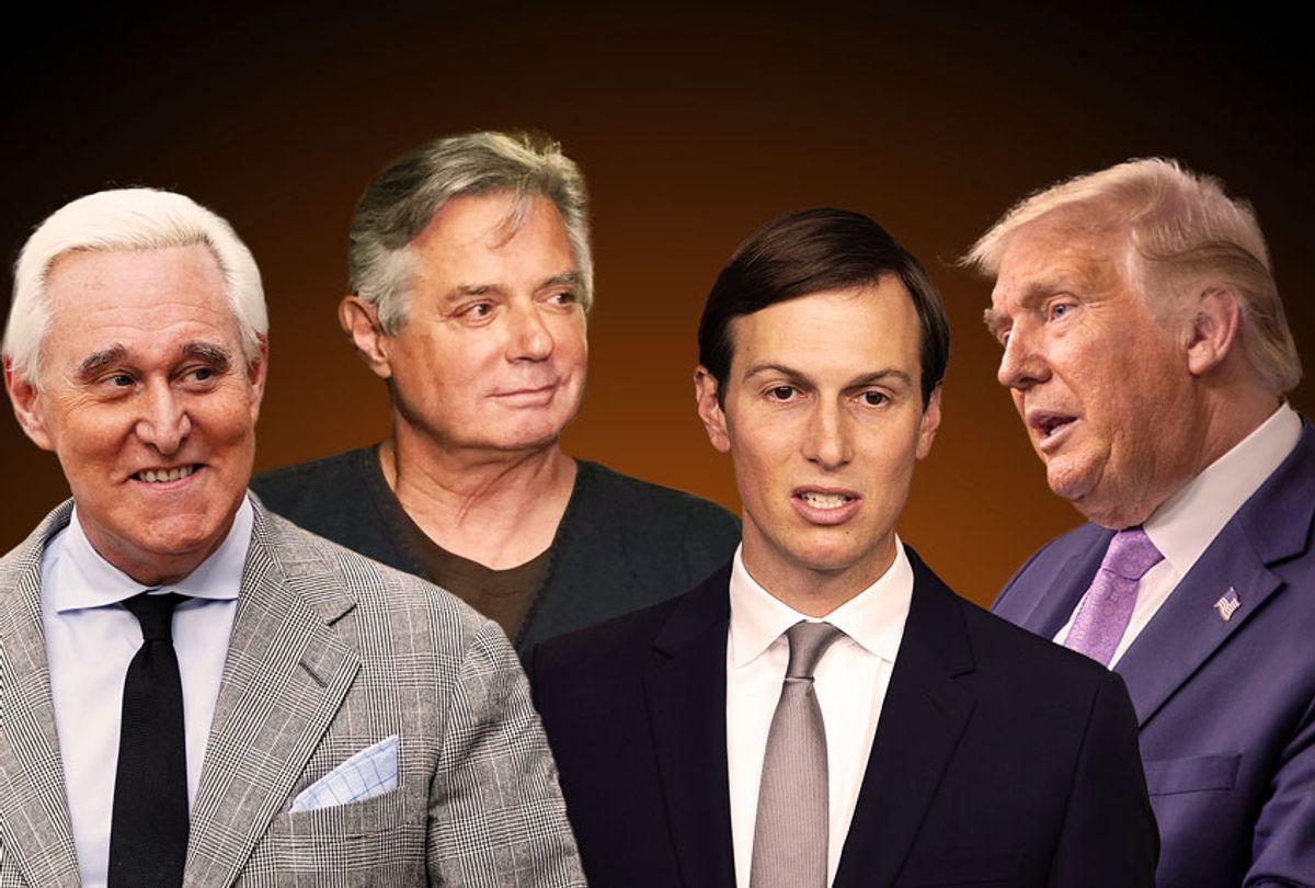 Roger Stone, Paul Manafort, Jared Kushner and Donald Trump (Photo illustration by Salon/Getty)
