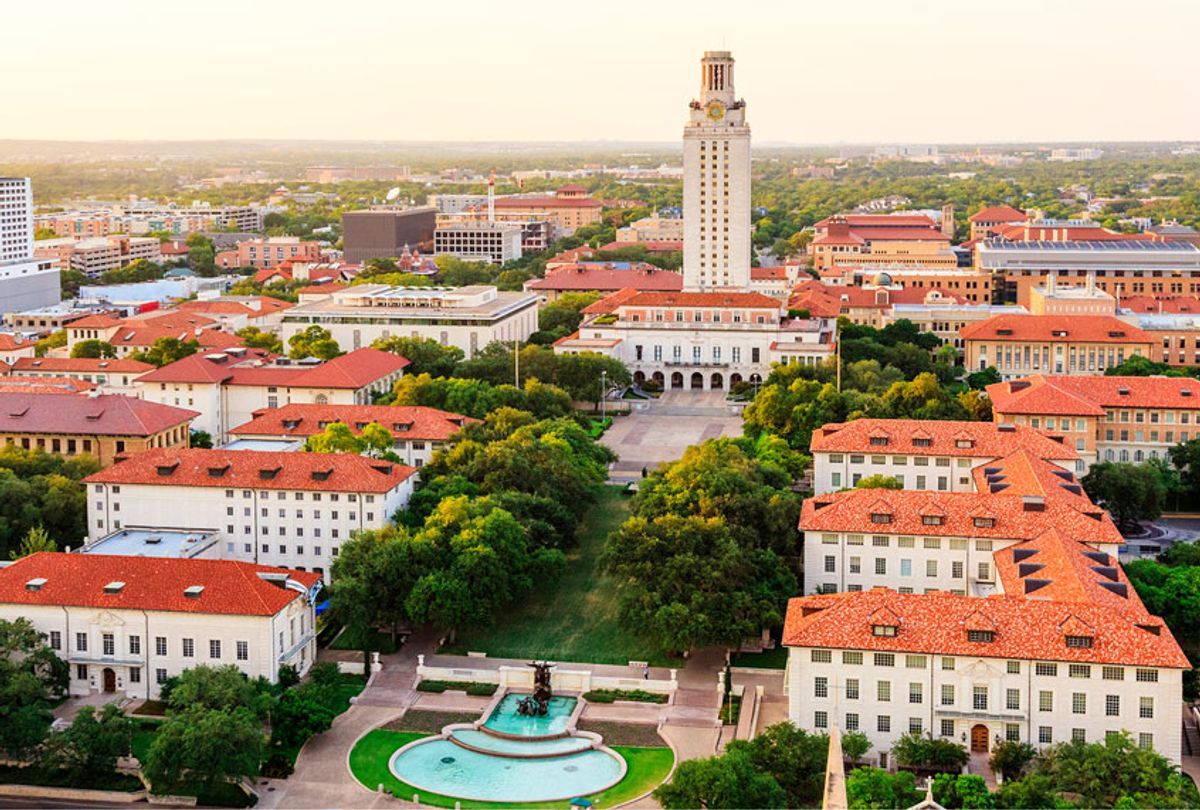 University of Texas (UT) Austin campus at sunset aerial view (Getty Images)