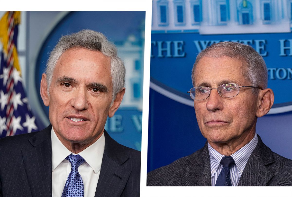 Scott Atlas and Anthony Fauci (Photo illustration by Salon/Getty Imahes)