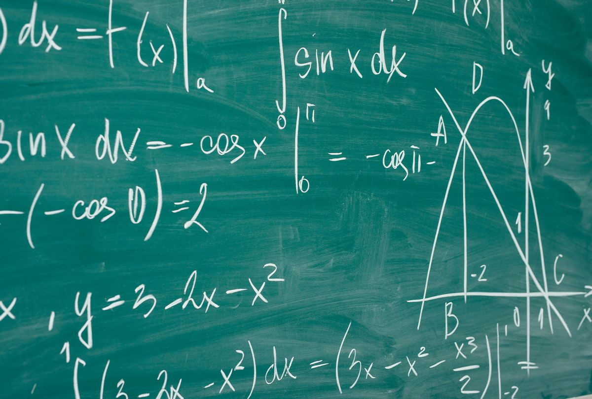 Math formulas are written on the school board  (Getty Images)