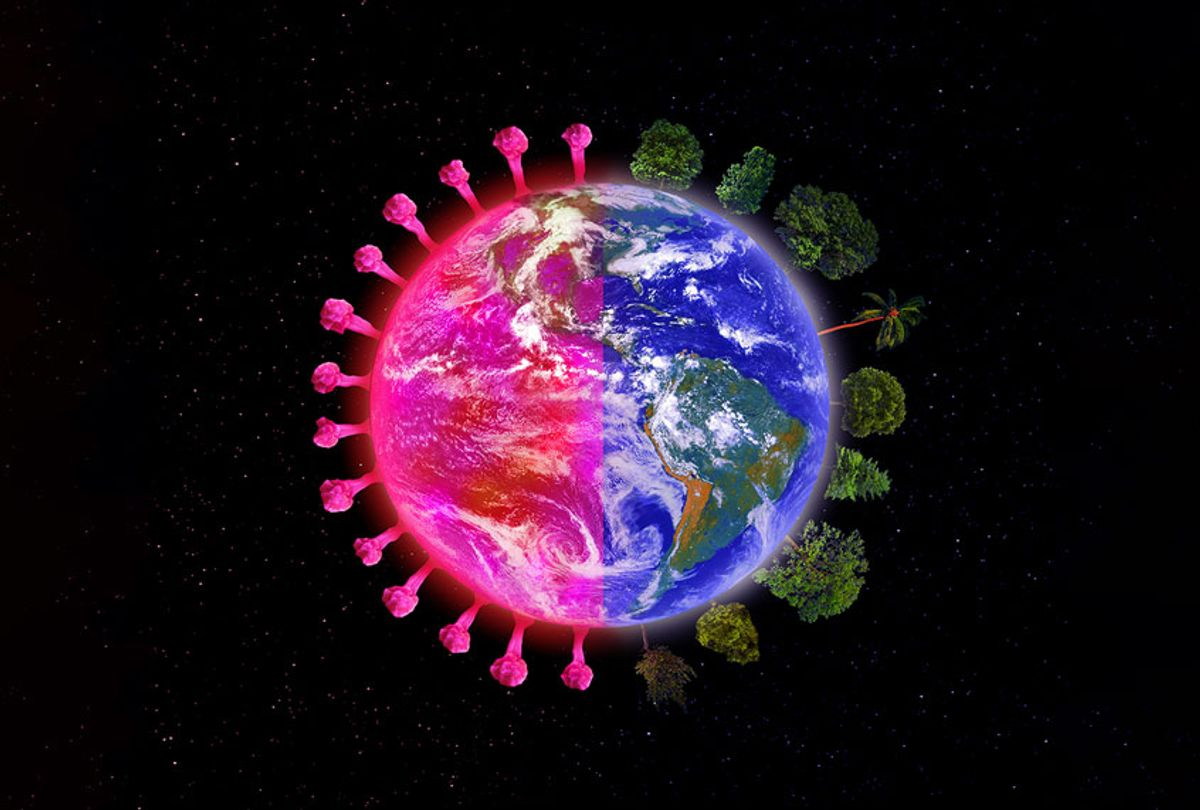 Planet Earth with Coronavirus and Trees (Getty Images)