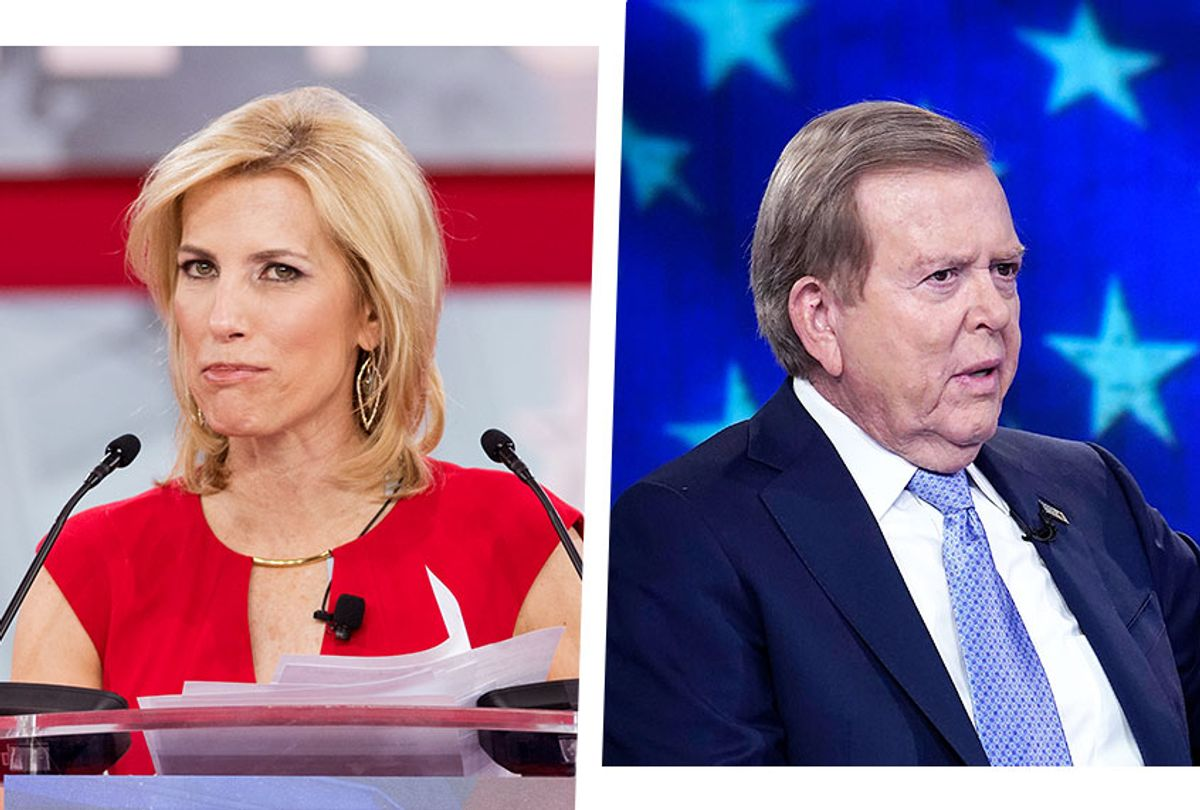 Laura Ingraham and Lou Dobbs  (Photo illustration by Salon/Getty Images)