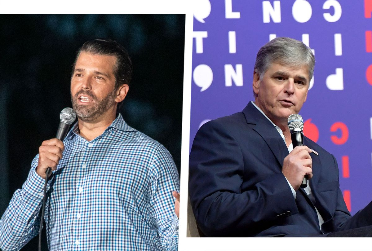 Sean Hannity and Donald Trump JR (Photo illustration by Salon/Getty Images)