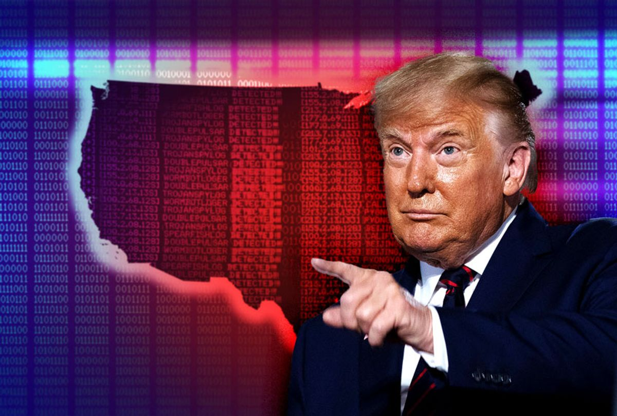 Donald Trump | Red and blue data map of the United States of America (Photo illustration by Salon/Getty Images)