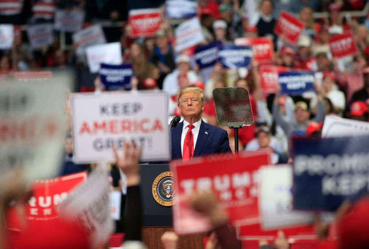 U.S. President Donald Trump speaks to supporters during a rally on March 2, 2020 in Charlotte, North Carolina. Trump was campaigning ahead of Super Tuesday. (Brian Blanco/Getty Images)