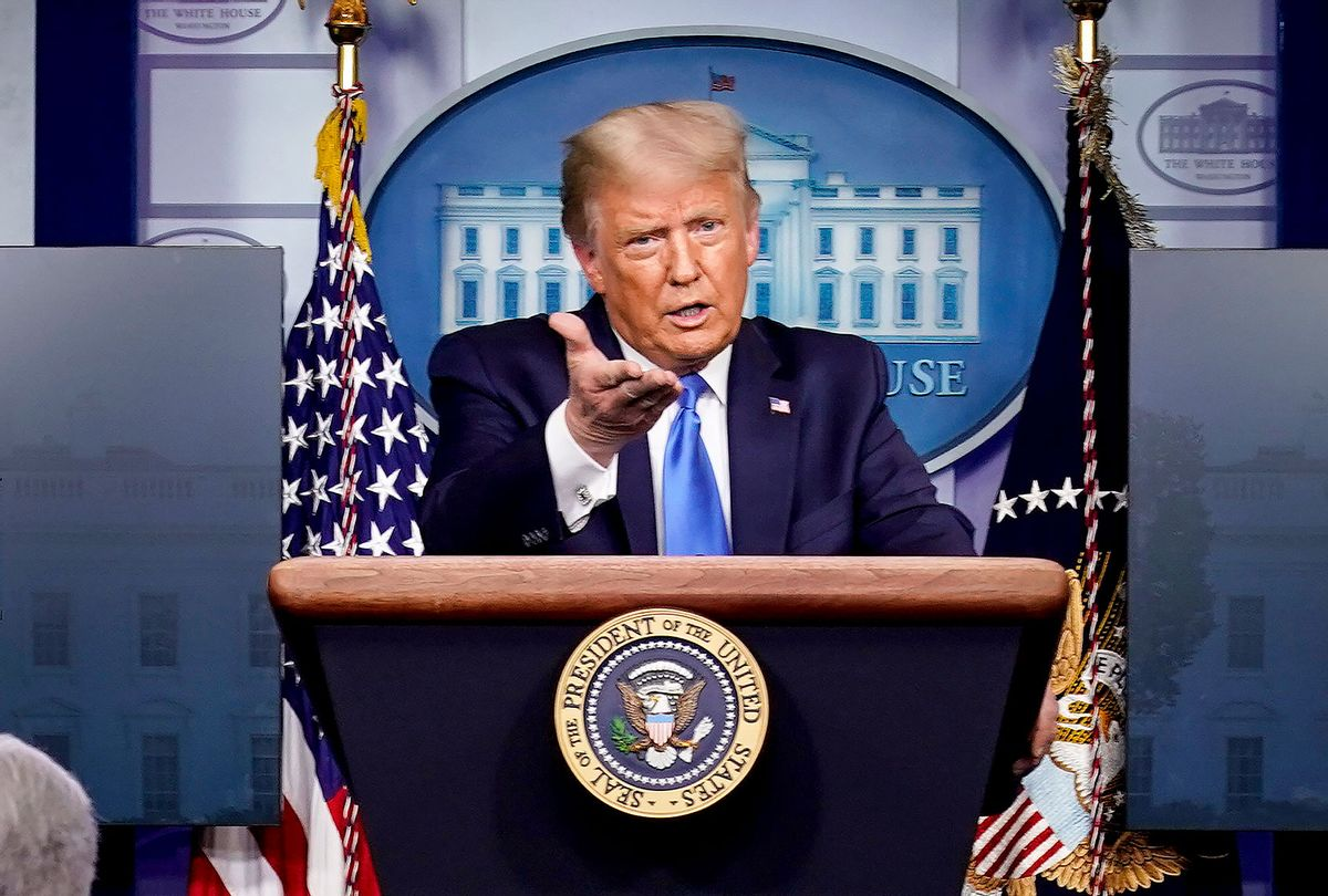 U.S. President Donald Trump speaks during a news conference in the briefing room of the White House on September 23, 2020 in Washington, DC. Trump fielded questions about a coronavirus vaccine and the latest developments in the Breonna Taylor case among other topics. (Joshua Roberts/Getty Images)