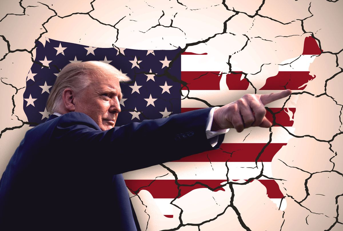 Donald Trump   United States of America cracking to pieces (Photo illustration by Salon/Getty Images)