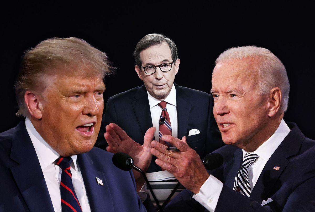 Donald Trump, Joe Biden and Chris Wallace (Photo illustration by Salon/Getty Images)