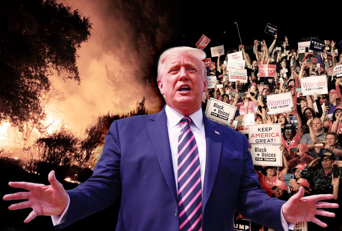 Donald Trump   Wildfires in California   Trump rally in Nevada (Photo illustration by Salon/Getty Images)