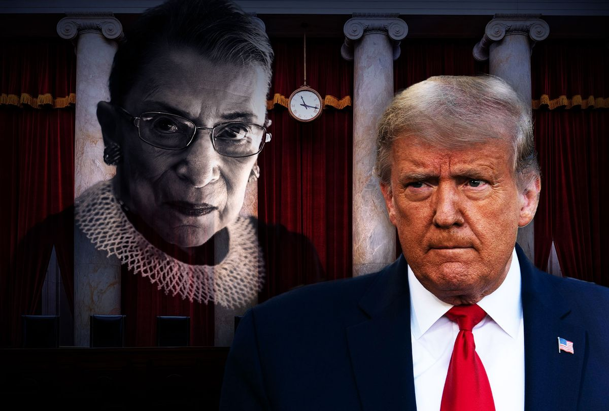 Donald Trump, The Supreme Court seats, and the looming Ruth Bade Ginsberg (Photo illustration by Salon/Getty Images)
