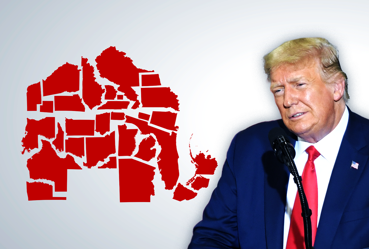 Donald Trump and Republican States (Photo illustration by Salon/Getty Images)