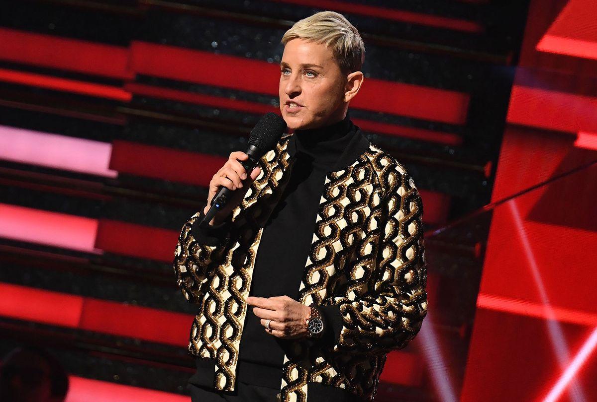Ellen DeGeneres at the 2020 Grammys (ROBYN BECK/AFP via Getty Images)