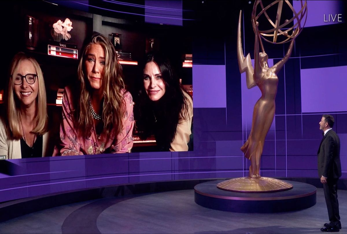 THE 72ND EMMY AWARDS! Hosted by Jimmy Kimmel, featuring video conference with Lisa Kudrow, Jennifer Aniston, and Courteney Cox (ABC)