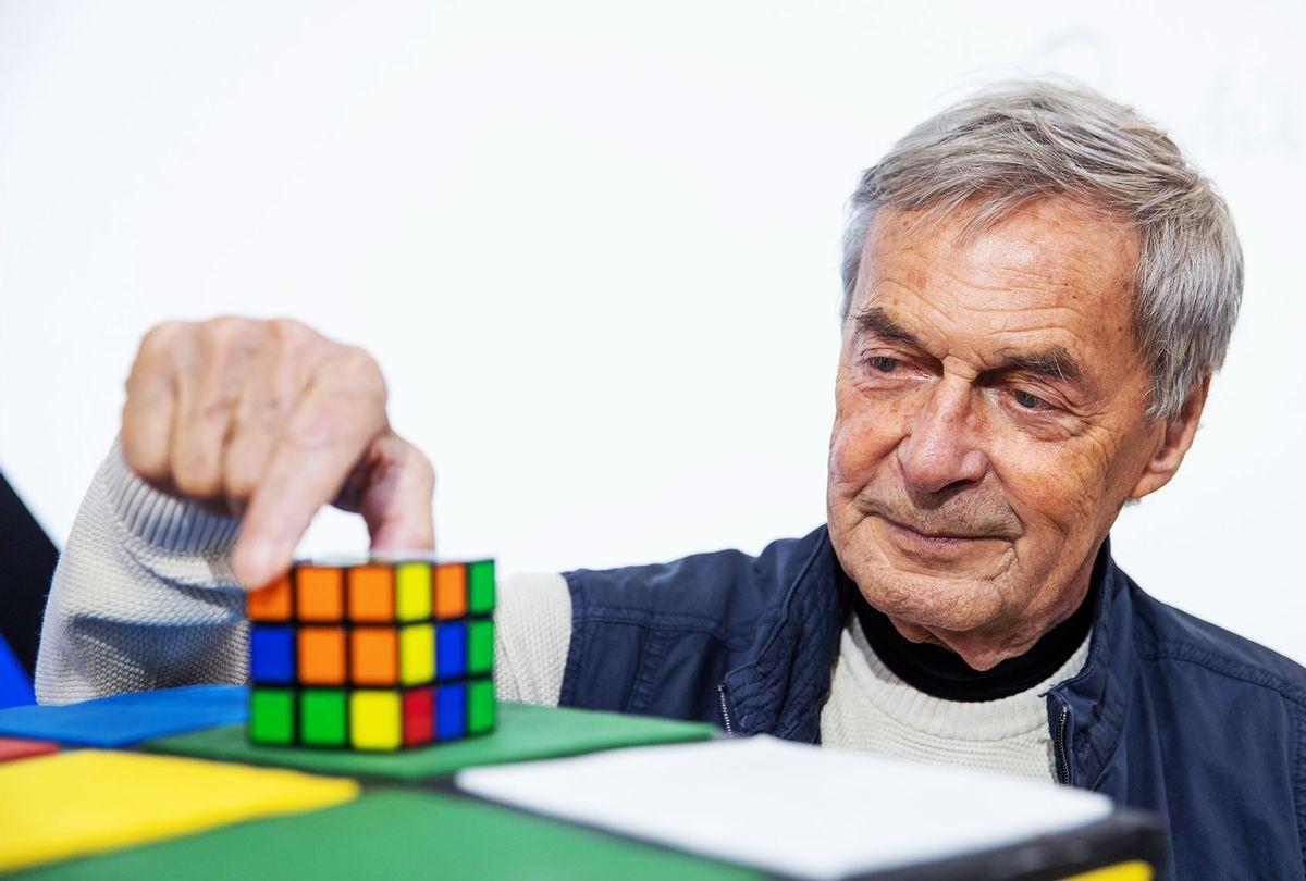 Erno Rubik, inventor of the Rubik's Cube (Daniel Karmann/picture alliance via Getty Images)