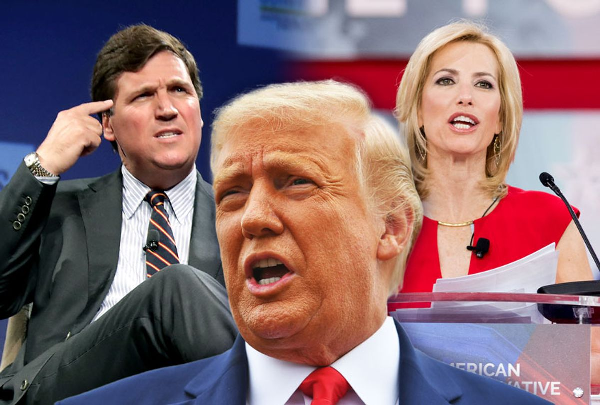 Tucker Carlson, Laura Ingraham and Donald Trump (Photo illustration by Salon/Getty Images)