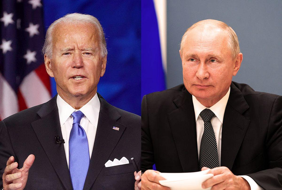 Joe Biden and Vladimir Putin (Photo illustration by Salon/Getty Images)