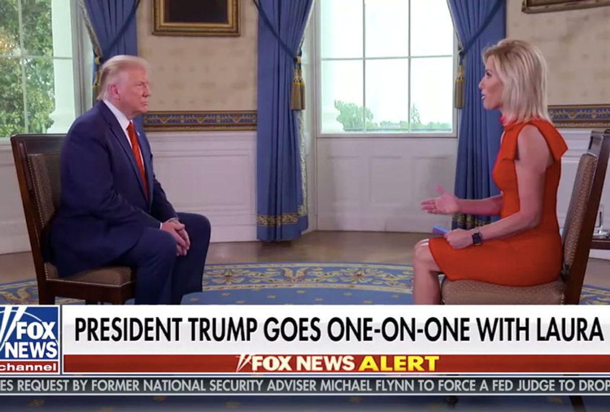Laura Ingraham interviewing Donald Trump (Fox News)