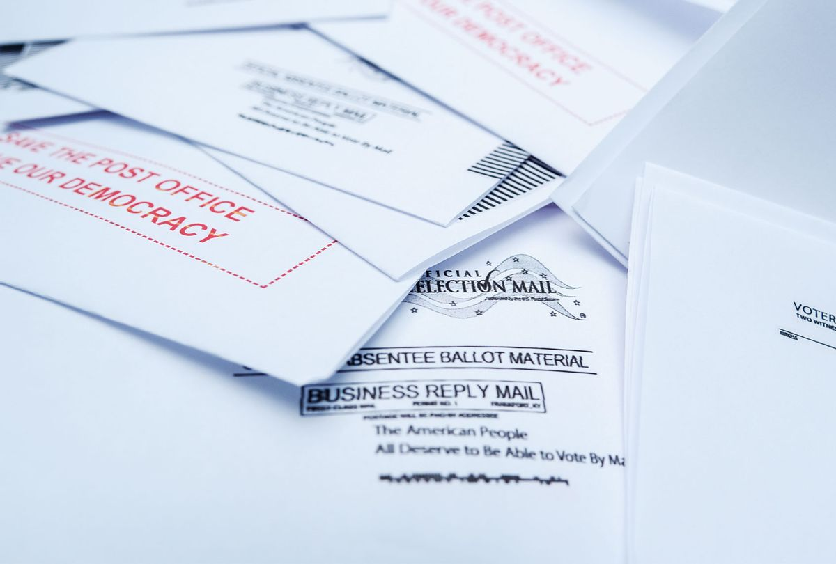 Mail-In-Ballot close-up (Michael A. McCoy/Getty Images)