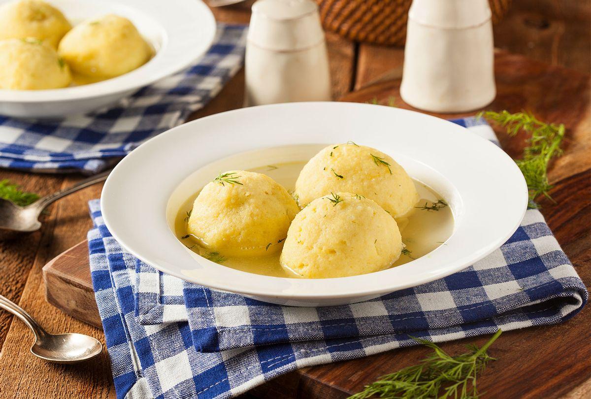 Hot Homemade Matzah Ball Soup (Getty Images)