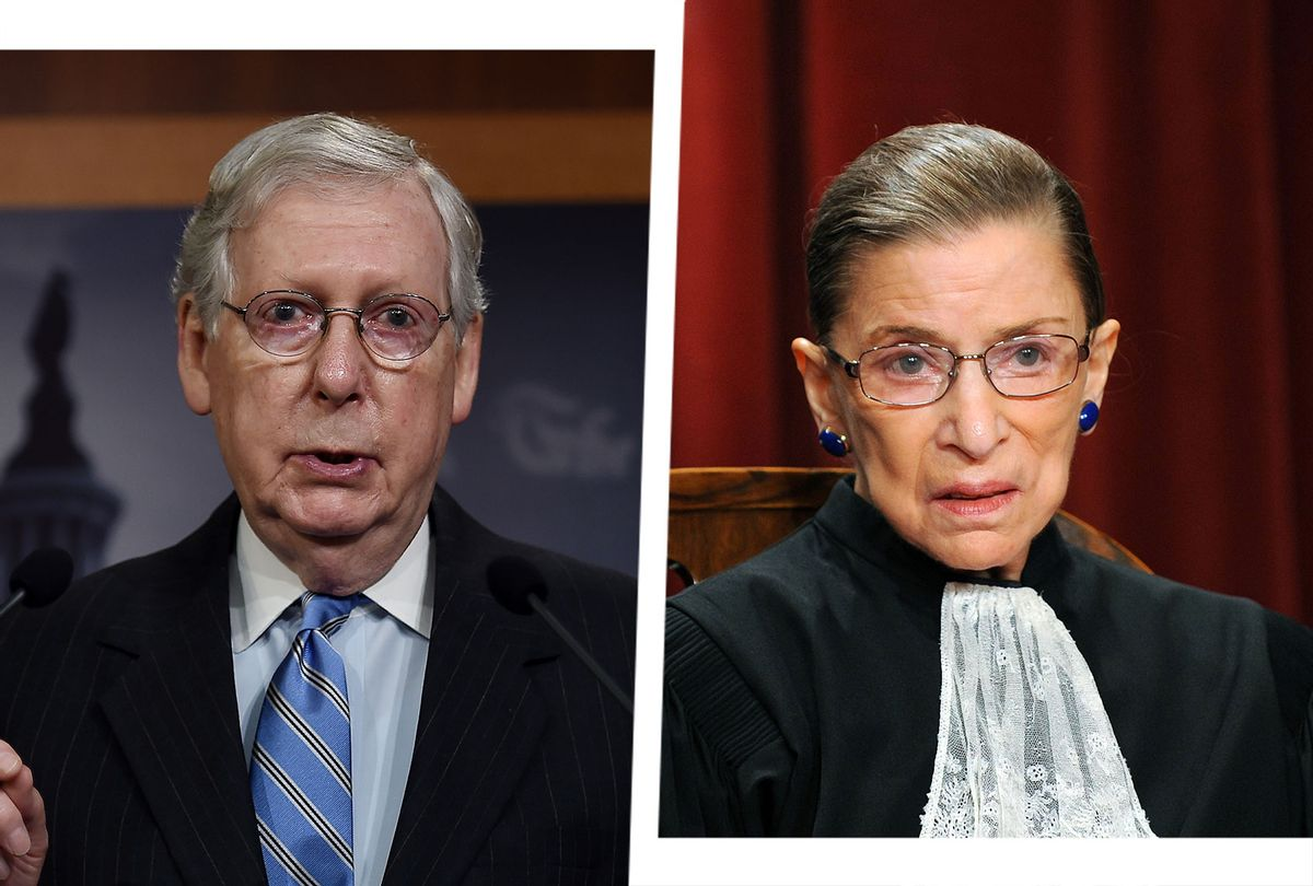 Mitch McConnell and Ruth Bader Ginsburg (Photo illustration by Salon/Getty Images)