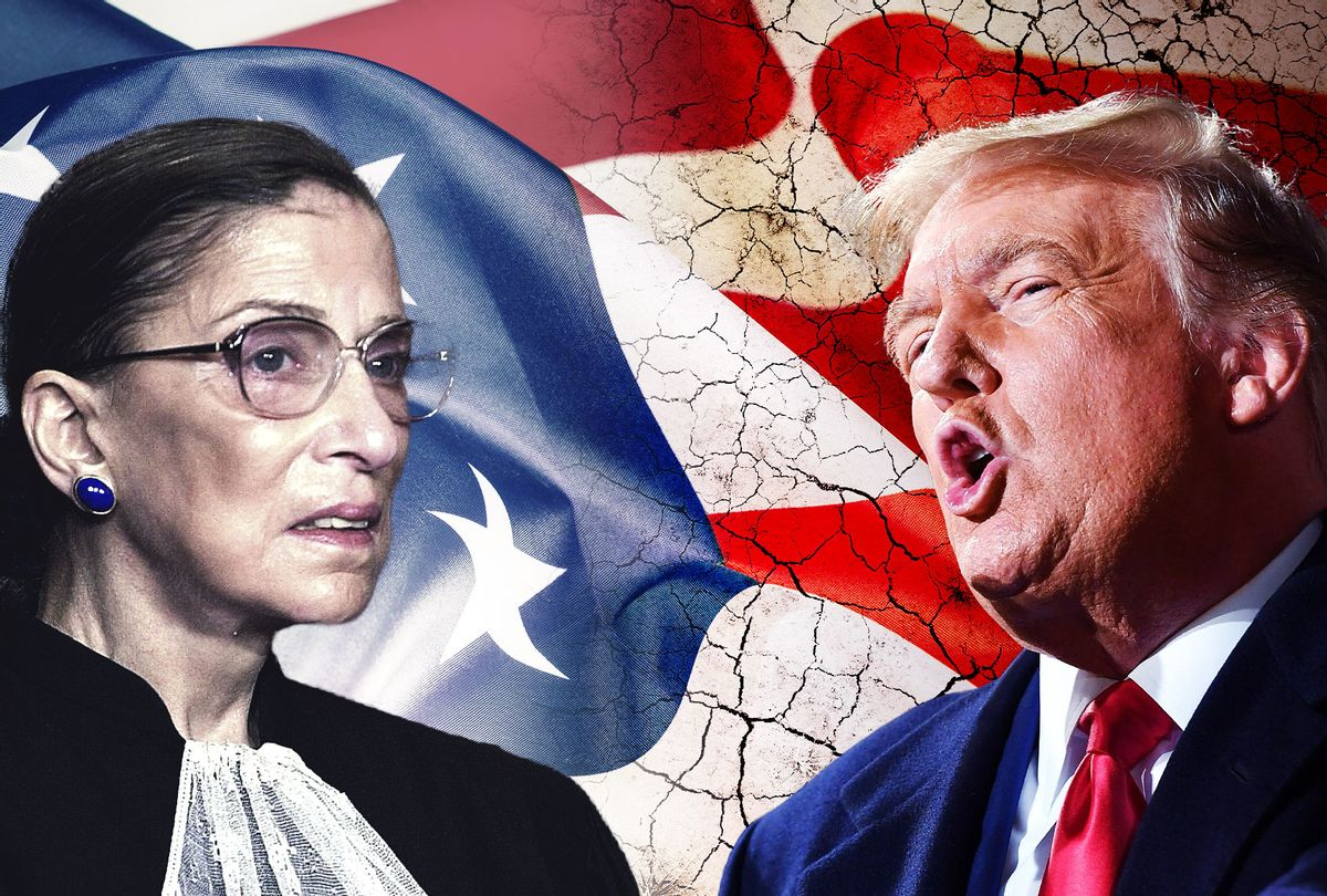 Ruth Bader Ginsburg and Donald Trump (Photo illustration by Salon/Getty Images)