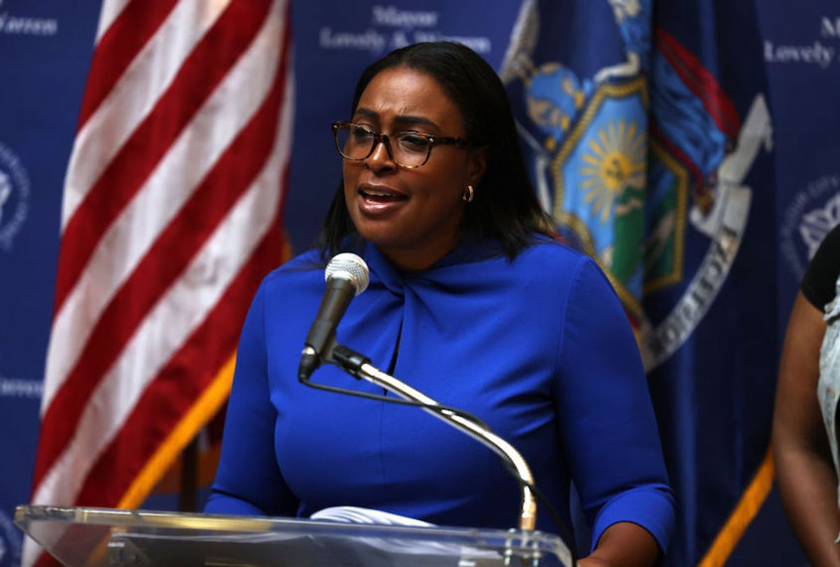 Lovely A. Warren, mayor of Rochester, speaks during a press conference on the death of Daniel Prude on September 03, 2020. (Michael M. Santiago/Getty Images)