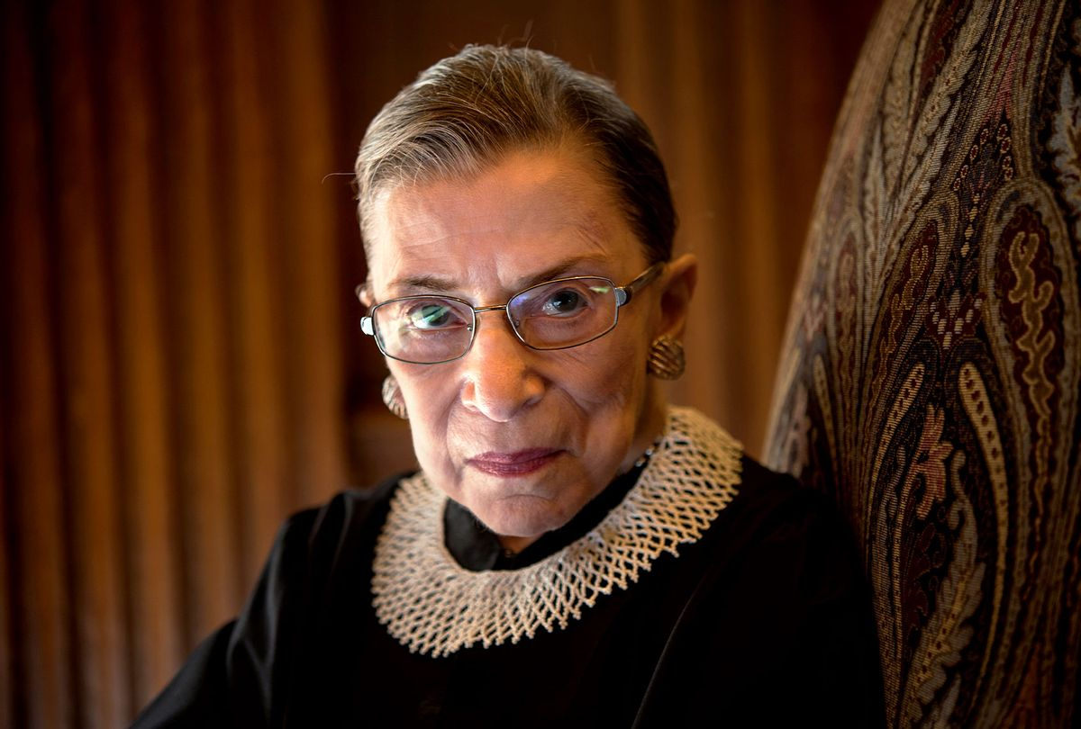 Supreme Court Justice Ruth Bader Ginsburg, celebrating her 20th anniversary on the bench, is photographed in the West conference room at the U.S. Supreme Court in Washington, D.C., on Friday, August 30, 2013. (Nikki Kahn/The Washington Post)