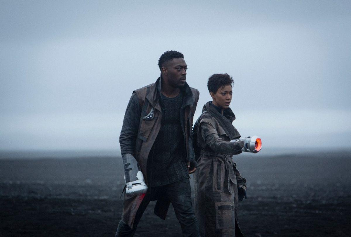 "David Ajala as Book and Sonequa Martin-Green as Burnham in ""Star Trek: Discovery"" (CBS Interactive / CBS All Access)"