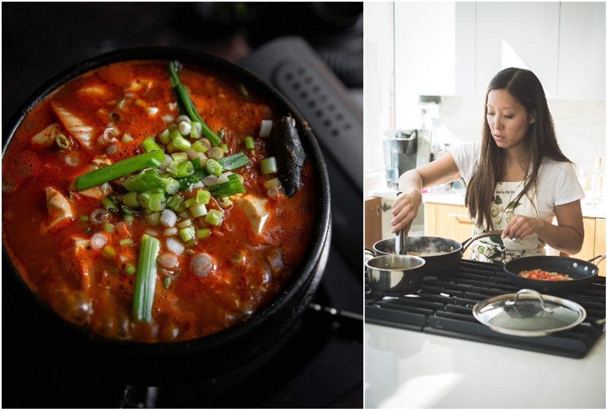 Soondooboo kimchi chigae / The Korean Vegan Joanne Molinaro (The Korean Vegan / Geoff Martin Photography)