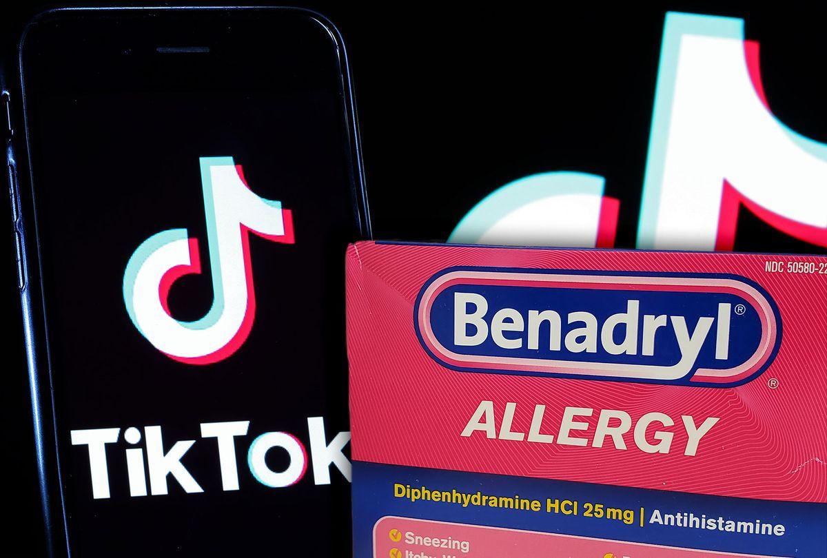 TikTok   Benadryl (Photo illustration by Salon/Getty Images)